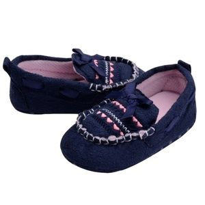 Other - NEW Baby Moccasin Slippers in Navy Blue